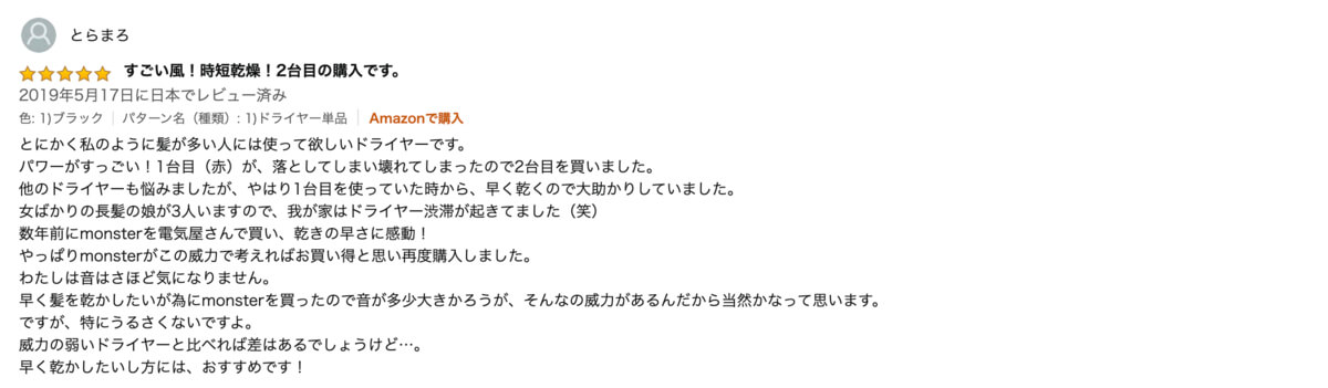 『MONSTER』ダブルファンドライヤーレビュー